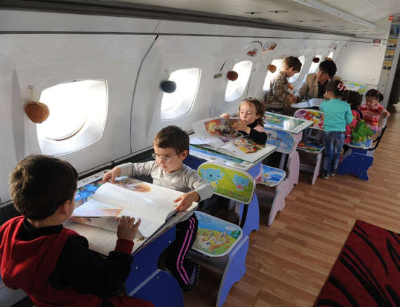 Upcycled Aircraft Classrooms Architecture + Interiors Sustainability