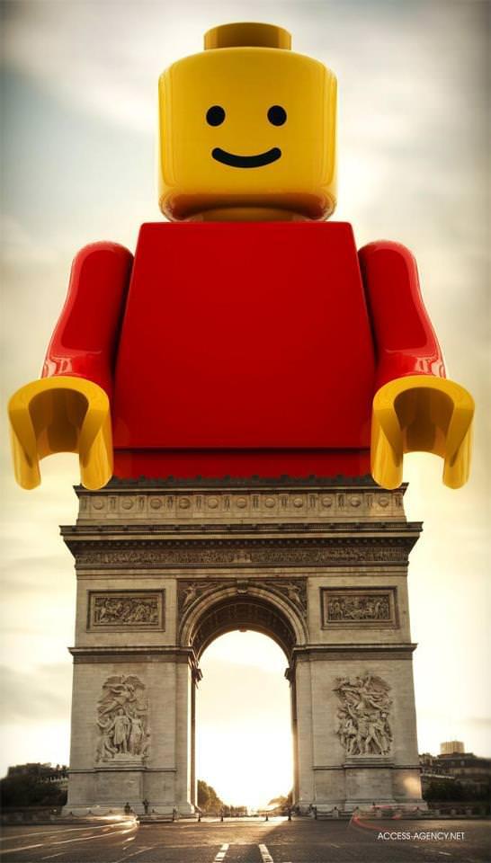 Lego in Paris Art + Graphics
