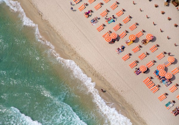 A La Plage, a La Piscine: Aerial Beach Bum Photographs by Gray Malin Photography