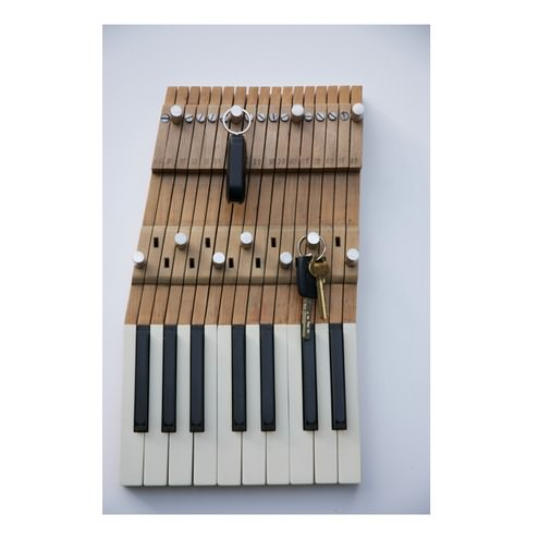 Key Rack Made from Recycled Piano Keys DIY + Crafts Sustainability