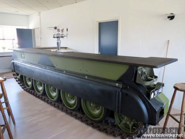 Bar Made From a Recycled Tank Design Sustainability