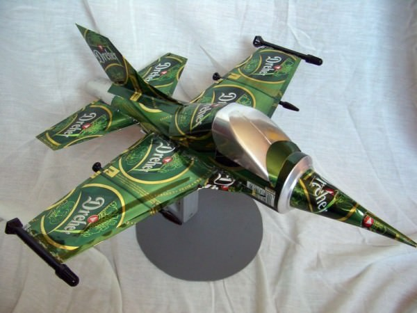 Beer Can Plane by Tamas Kanya Art + Graphics Sustainability