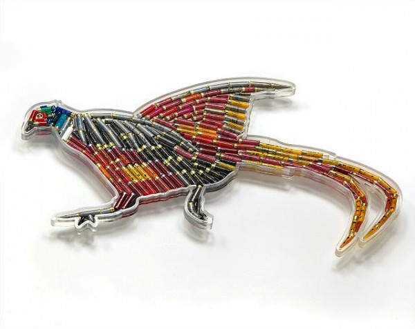 Birds Crafted out of Hundreds of Shotgun Cartridges Art + Graphics