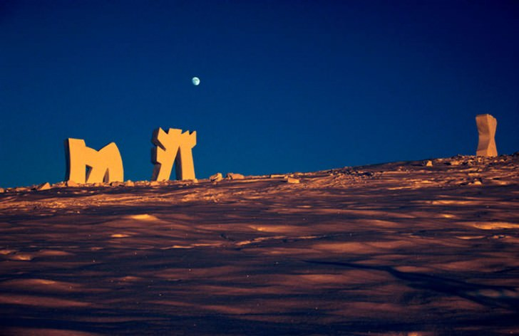 Snow Installations Animals + Nature Art + Graphics