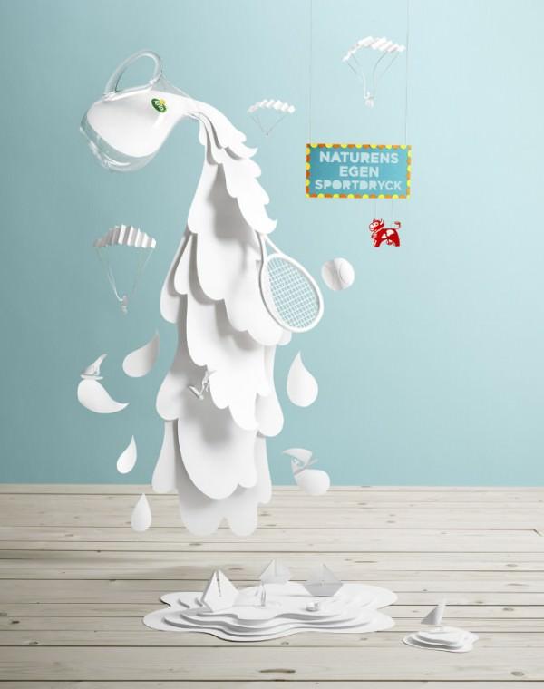 Paper Art from Swedish Artist Fideli Sundqvist Art + Graphics