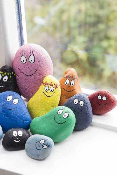 Barbapapa Stones DIY + Crafts