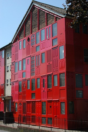 Red House with Salvaged Doors in Liverpool Architecture + Interiors
