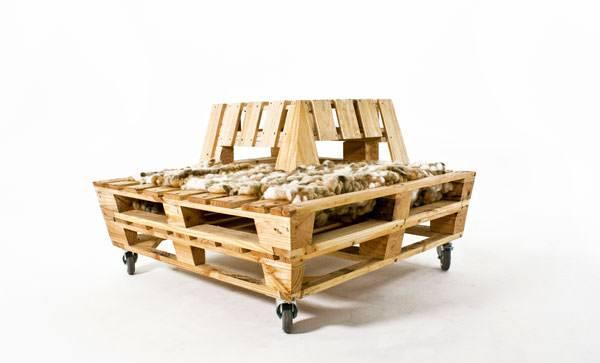 Modern Pallet Bench Design Sustainability