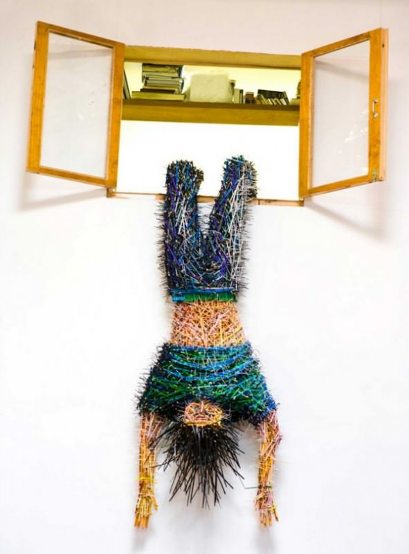 Sculptures Made Out Of Colored Pencils Art + Graphics