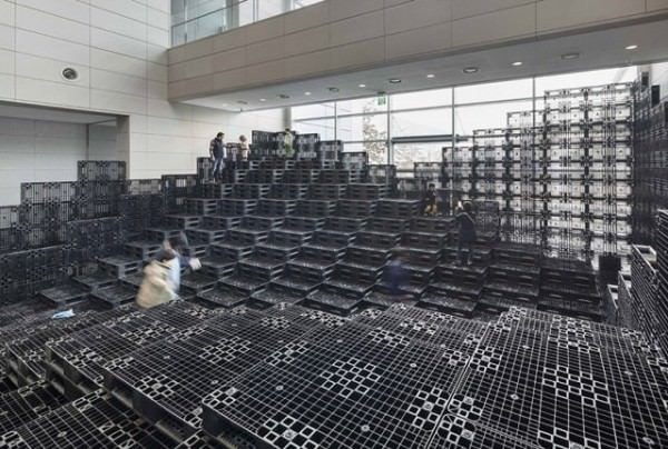 Tectonic Landscape With 1000 Recycled Plastic Pallets Sustainability