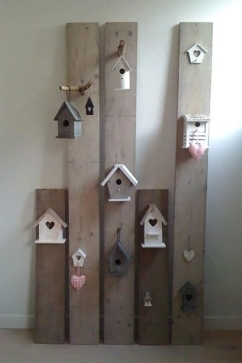 Diy: Creative Decor With Upcycled Pallet Wood & Birdhouses DIY + Crafts