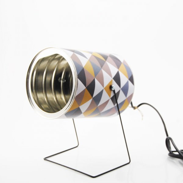 Repurposed Tin Cans Into Lamps Design Sustainability