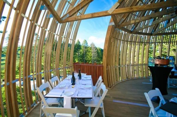 Stunning Tree House Restaurant Suspended 130-feet Above Ground Architecture + Interiors