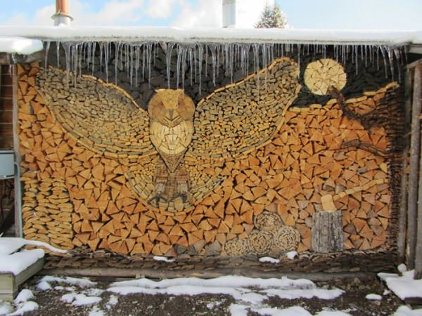 Log Piling Turned Into An Art Form Art + Graphics