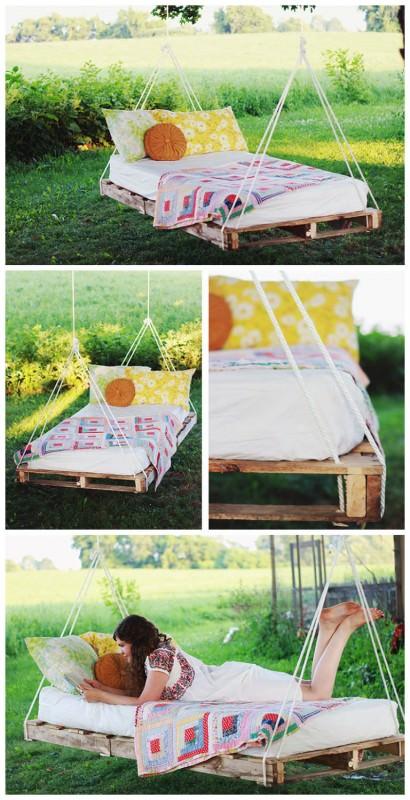 Diy: Hanging Pallet Bed DIY + Crafts Sustainability