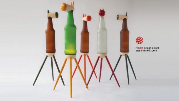 Beer Bottles Animals Design