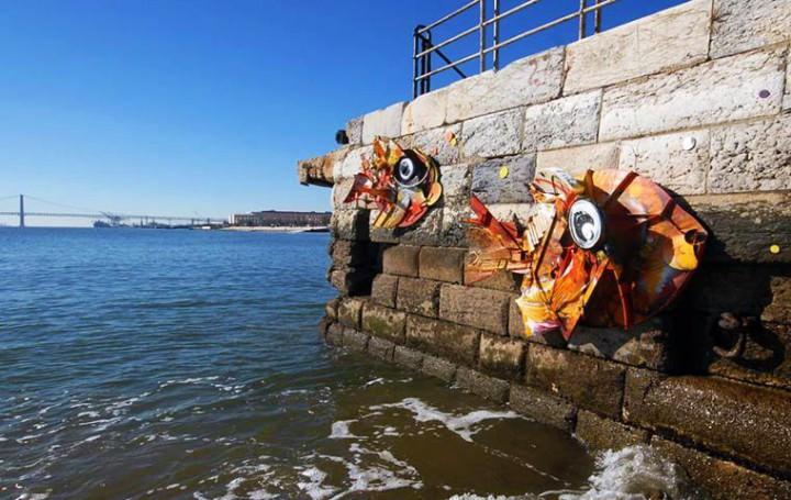 Trash Turned into Street Art by Artur Bordalo Art + Graphics