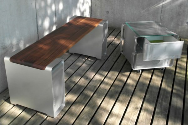 Old G5 Powermac Upcycled Into Design Furniture Design