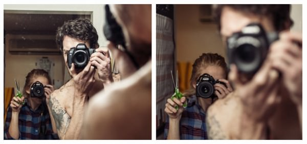 Lens between Us: Couple Documents Their Travels with Simultaneous Portraits of Each Other Photography