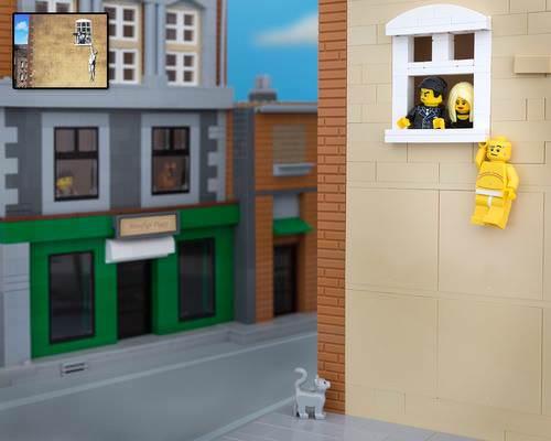 Bricksy: Banksy in Lego Art + Graphics Photography