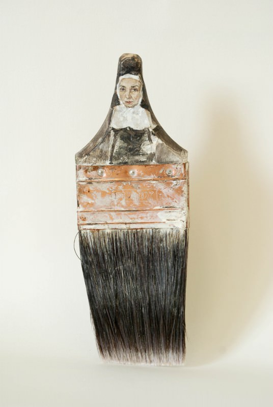 Old Paintbrushes Transformed Into Delicate Ladies Art + Graphics