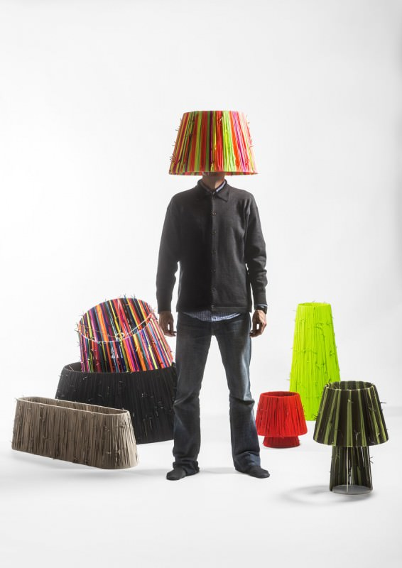 Shoelaces Lamps by Curro Claret Design