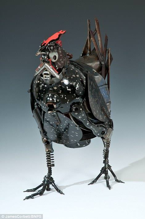 Sculptures Made From Old Car Parts by James Corbett Art + Graphics