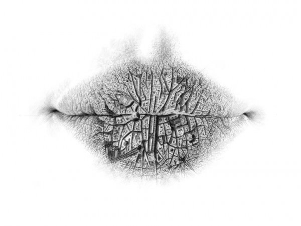 Surreal Pencil Drawings of Lips by Christo Dagorov Art + Graphics