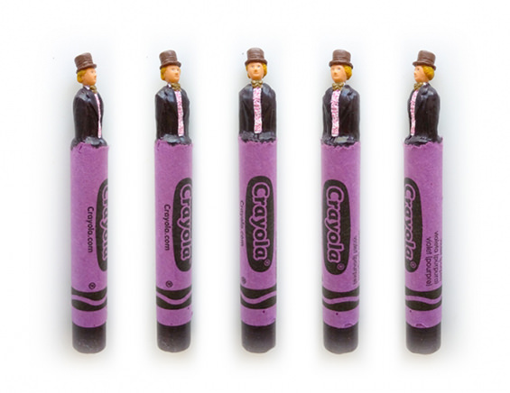Pop-culture Characters From Carved Wax Crayons By Hoang Tran Art + Graphics