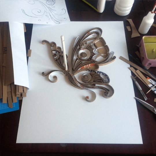 From Pizza Box To Butterfly Art + Graphics