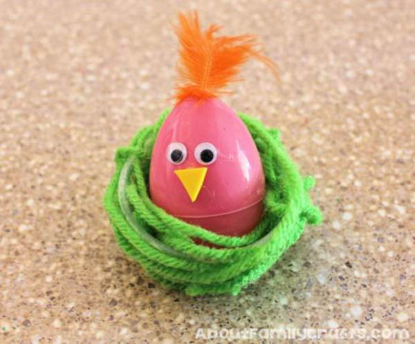 Diy: Colorful Chicks in Nests DIY + Crafts