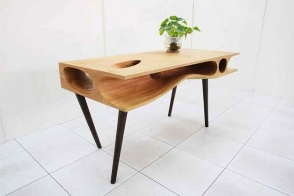 Wood Cat Table Design