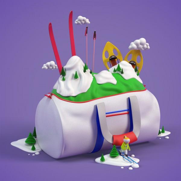 Ski Illustrations by Benoît Challand Art + Graphics