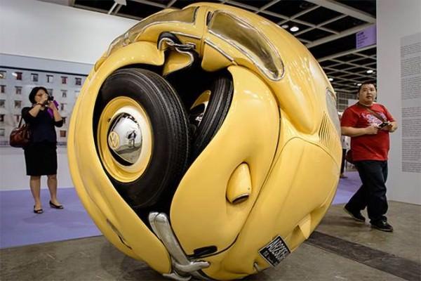 Amazing Beetle Sphere Sculpture by Ichwan Noor Art + Graphics
