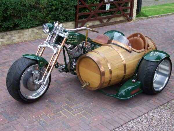 Amazing Wine Barrel Sidecar Funny