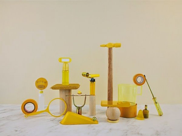 Photos of Junk Shop Objects Arranged by Color Photography