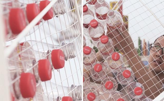 Upcycled Coca Cola Plastic Bottle Pavilion Architecture + Interiors Sustainability