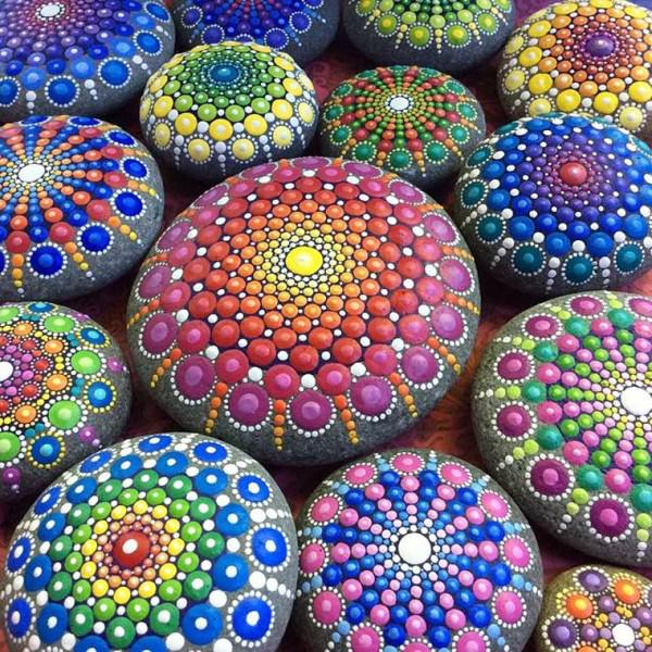 Beautiful Painted Pebbles by Elspeth Mclean Art + Graphics