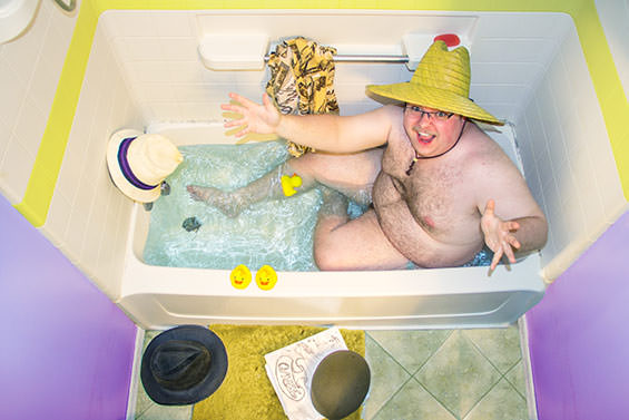Colorful Photos Of People Enjoying A Soak In The Tub by Samantha Fortenberry Photography