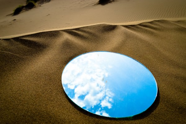 Desert Mirrors Installation for Dreams Project by Shirin Abedinirad Art + Graphics Photography