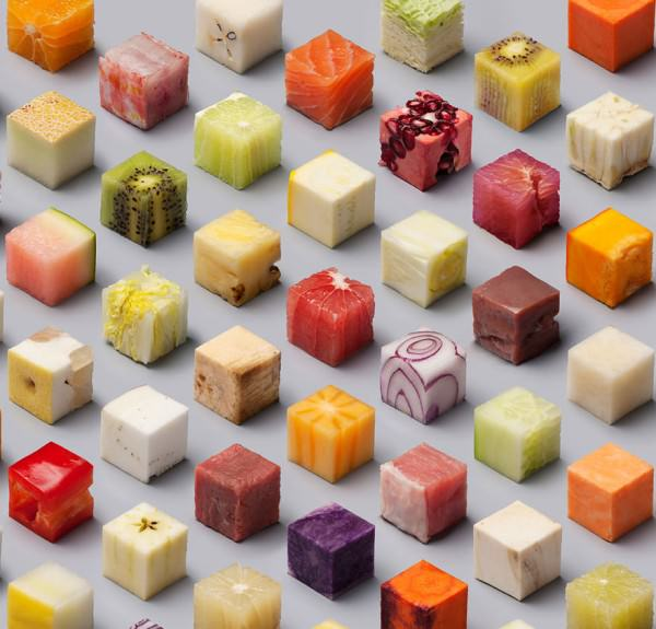 Unprocessed Food Cut Into Perfect Cubes By Lernert & Sander Creative Fooding
