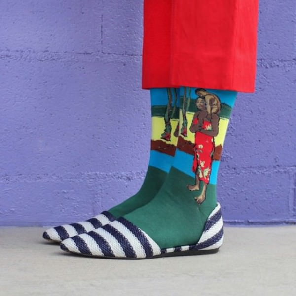 Iconic Art Masterpieces Recreated on Socks by Kate Brien Fashion + Trends