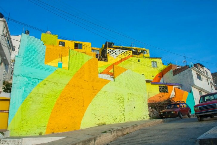 When The Inhabitants Of This Mexican Village Decided To Paint All The Facades  Art + Graphics