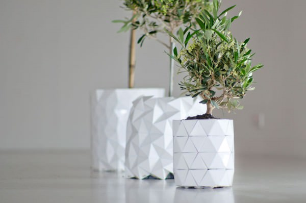 Origami Flower Pot Growing With Your Plant Design