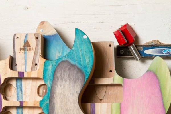 Guitars Made from Recycled Skateboards by Nick Pourfard Sustainability