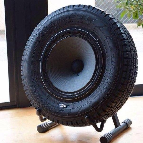 Sub-woofer Speaker Made Out Of An Upcycled Tire Design Sustainability
