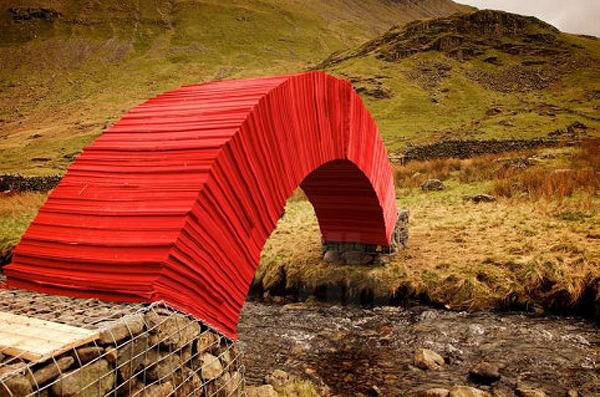 Astonishing Bridge Made From 22,000 Sheets of Paper Architecture + Interiors Art + Graphics