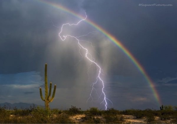 A Beautiful Shot Of A Rainbow Lightning Photography