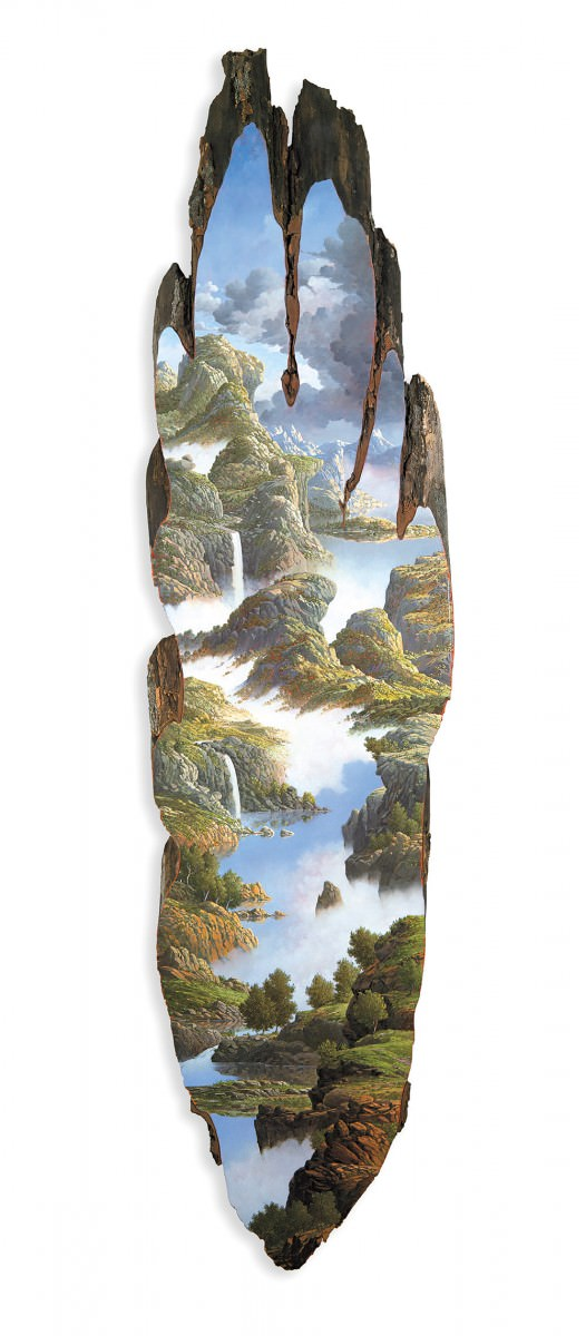 Landscapes Painted On Fallen Tree Logs By Alison Moritsugu Art + Graphics
