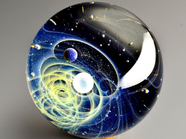 Planetary Systems In Glass Beads Bysatoshi Tomizu Art + Graphics